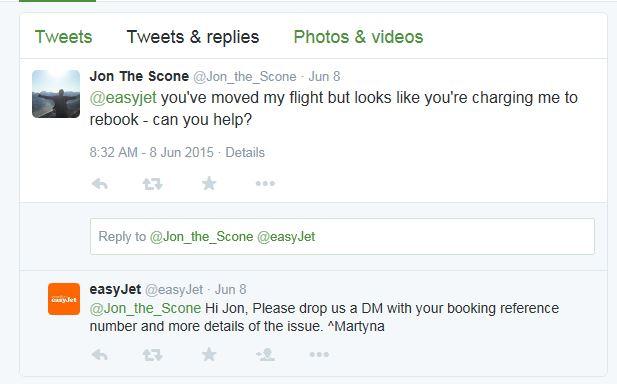 Easyjet DM invite